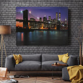 Night Bridge LED Light Up Lighted Canvas Paintings Picture Wall Hanging Art Decor