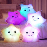 Smile Star LED Flash Cuscino farcito leggero Soft Cotone peluche Cuscino da tiro Decor San Valentino regalo giocattolo