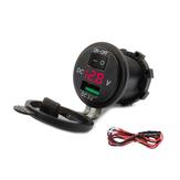 12V-24V QC3.0急速充電USB充電器電圧表示ソケットスプリッターアダプターコンセント
