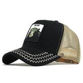 男性漫画プリント野球帽動物クマ刺繍野球帽