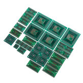 30pcs PCB Board Kit SMD Turn To DIP Adapter Converter Plate FQFP 32 44 64 80 100 HTQFP QFN48 SOP SSOP TSSOP 8 16 24 28