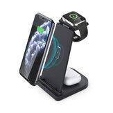 Cargador inalámbrico Bakeey 3 en 1 cargador magnético para teléfonos móviles Smart Watch Auriculares