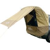 IPRee® Namiot na bagażnik samochodowy Osłona przeciwsłoneczna Przeciwdeszczowa do samodzielnego prowadzenia wycieczki Grill mobilny namiot na zewnątrz