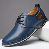 Homens Pure Color Microfiber Leather Antiderrapante Business Casual Shoes