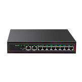 10 Port Ethernet Switch POE Network Switch Ethernet Splitter 10/100Mbps Desktop for CCTV IP POE Camera Wireless AP Traffic Optimization