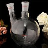 1000ml 2 pescoço 24/40 garrafa de fundo plano laboratório de ebulição frasco de vidro