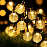 50LED 7M Solar String Lights Outdoor Waterproof 8 Modes Lights Globe pour la décoration de jardin
