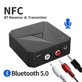 Bakeey 2 In 1 NFC-fähiger Bluetooth V5.0 Audio-Sender Empfänger 3,5 mm Aux RCA Wireless Audio Adapter Für TV PC Kopfhörer Auto Stereo System Home Sound System