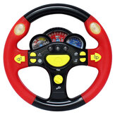 Simulation Steering Wheel with Light Copilots Pretend Play Driver Without Base Gamepad