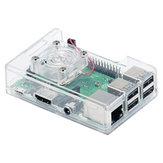 3 en 1 ABS Caso + Ventilador de refrigeración + Kit de disipador de calor para Raspberry Pi 3B + / 3B / 2B