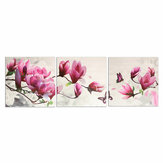 3 Pcs Wall Decorative Oil Painting Canvas Magnolia Wall Decor Art Pictures Frameless Wall Hanging Decorations for Home Office