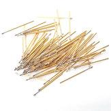 100Pcs PL75-Q2 Gold Color Spring Test Probe Instrument Dia 1.3mm Length 33.35mm Phosphor Brass Metal Spring Pressure Test Pin