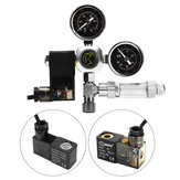 G5/8 W21.8 220V Aquarium CO2 Regulator Bubble Counter Magnetic Solenoid Decompression Valve