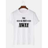 Mens Casual 100% Algodão Carta Imprimir Tripulação Neck Short Sleeve T-Shirts