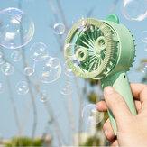 Bubble MIni draagbare ventilator met nachtlampje Konijnvorm USB 320 mAh batterij opladen