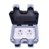 IP66 Hava Koşullarına Dayanıklı Su Geçirmez Outdoor AB Duvar Gücü Soket 16A Çift AB Standart Elektrik Çıkışı Topraklı