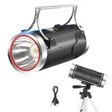 XANES® 1100LM 400M Hvit / blå dobbel lyskilde Sterk Xenon-lampe med 65 cm justerbart stativ + 18650, USB-DC oppladbar Kraftig håndhjelp LED-lommelykt Utendørs nattfiske lokke Bærbar lampe