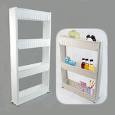 Mrosaa A-23 The Goods For Kitchen Storage Rack Fridge Side Shelf 3/4 Layer Removable With Wheels Bathroom Organizer Shelf Holder