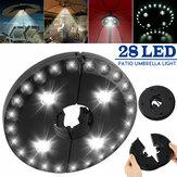 28 LED Ombrellone Ombrellone Patio 3 Modalità luminosità Esterna campeggio Luce tenda