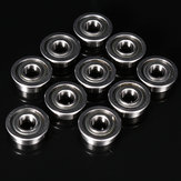 10pcs MF115ZZ 5x11x4mm Flange Bushing Ball Bearings Flange Size 12.5x0.8mm