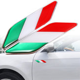 2 stuks 3D Itllian Italië Vlag Sticker Badge Emblemen Decal Decor Voor Auto Truck Laptop
