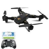 VISUO XS809W WIFI FPV com Câmera de 2MP HD Modo Decapitado Braço Dobrável RC Quadricóptero RTF