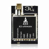 AKK X2-ultimativ International 25mW / 200mW / 600mW / 1200mW 5.8GHz 37CH FPV-sender med smart lyd