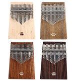 HLURU 17 Keys Wood Kalimba Bottom Hole Style Mahogany Thumb Piano Musical Instrument for Beginner