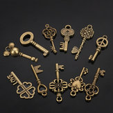 11 stücke Mixed Antique vtg alten look Ornate Bronze Skeleton Keys Lot Anhänger Phantasie Herz Dekorationen