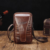 Men Genuine Leather Waist Bag Shoulder Phone Bag Crossbody B