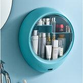 Almacenamiento de cosméticos Caja Cosmético acrílico de pared a prueba de polvo para el hogar Organizador Caja Cosmético de escritorio Caja