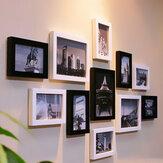 6 pouces suspendus cadres photo bois cadre photo mur photo maison décoration murale pendentif type cadre