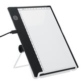A5 LED Drawing Copy Pad with Scale USB Art Artcraft Graphic Painting Drawing Writing Board Electronic Art Writing Table Pad Stepless Dimmable Brightness/3 Level Dimmable