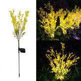 Açık Solar Çim Işık Kanola Çiçekler Su Geçirmez Bahçe Işık Led Solar Bahçe Veranda Yard Dekorasyon için Güçlendirilmiş Işıklar