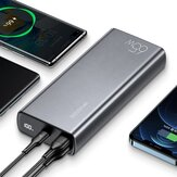 USAMS CD165 111Wh 65W 30000mAh Power Bank Power Supply With 65W USB-C PD QC4.0 / 22.5W&18W QC3.0 USB-A / 100W USB-C to USB-C Cable Support AFC FCP SCP Fast Charging For iPhone 12 Mini 12 Pro Max for Samsung Galaxy S21 Note S20 ultra