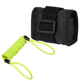 1.5m/5ft Reminder Cable With Alarm Lock Bag For Motorcycle Bike 5 Color