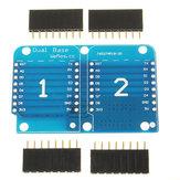 3Pcs Double Socket Dual Base Shield For D1 Mini NodeMCU ESP8266 DIY PCB D1 Expansion Board