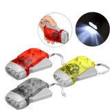 كرنك اليد مضيا الذاتي الضغط LED التخييم ضوء في الهواء الطلق الصيد التكتيكية الشعلة