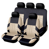 Universal 5 Head 9Pcs Full Set Car Seat Split Bench Covers Protector Cushions