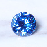 8mm 3.25ct Sea Blue Sapphire Round Faceted geslepen vorm AAAAA VVS Losse edelsteendecoraties