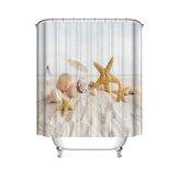 180x180cm Bad wasserdicht Shell Shell Starfish Beach Badezimmer Duschvorhang