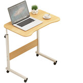 Adjustable Computer Laptop Desk Simple Mobile Lifting Laptop Table With Wheels Wood Laptop Table Beside Bed Sofa