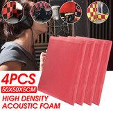 4PCS Dźwiękochłonny panel akustyczny z pianki bawełnianej KTV Studio z naklejką samoprzylepną