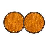2pcs refletores redondos 2inch laranja universais para motocicletas atv bicicletas dirt bikes