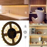 0,5M / 2M / 5M Kontrol Sentuh Tahan Air Lampu LED Strip USB 2835SMD Lampu Dimmable untuk Cermin Rias Dapur