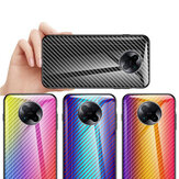 Bakeey for Xiaomi Poco F2 Pro / Xiaomi Redmi K30 Pro Case Carbon Fiber Pattern Gradient Color Tempered Glass Shockproof Scratch Resistant Protective Case Non-original