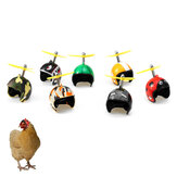 1 Pcs Chicken Helmet Pet Bird Hard Protective Hat Pet Carriers Supplies