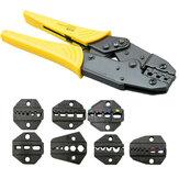 Alicates para engarzar cables herramienta Juego de engarzadores de cables profesionales Terminal de trinquete de ingeniería