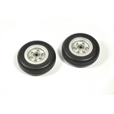 RC Wheels 2/2.25/2.75/3/3.5/3.75/4 Inch Black Rubber Tire Wheel Aluminum Hub for RC Model Plane Aircraft Fixed Wing