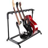 Çoklu Gitar Standı 7 Tutucu Katlanabilir Evrensel Ekran Raf - Klasik Akustik, Elektrik, Bas Gitar ve Gitar için Taşınabilir Siyah Gitar Tutucu Çanta/Kılıf